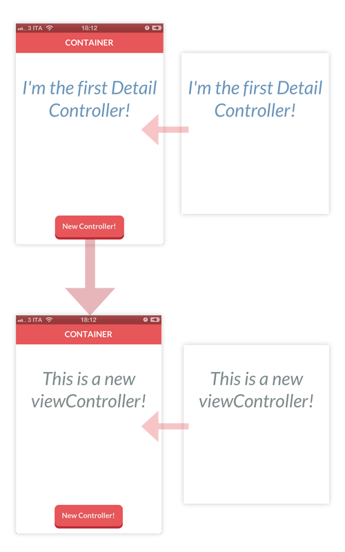 Working with custom Container View Controllers - Think & Build